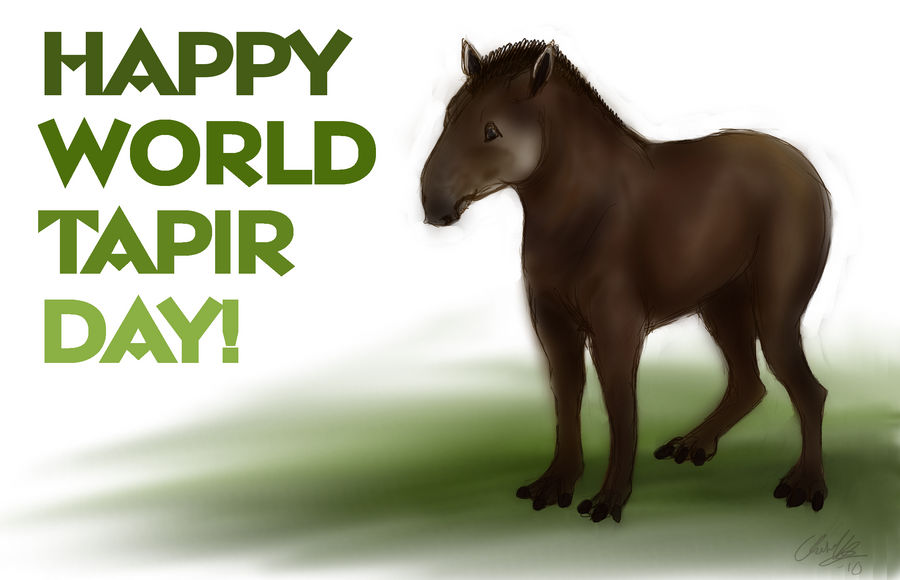 Happy World Tapir Day by ElreniaGreenleaf