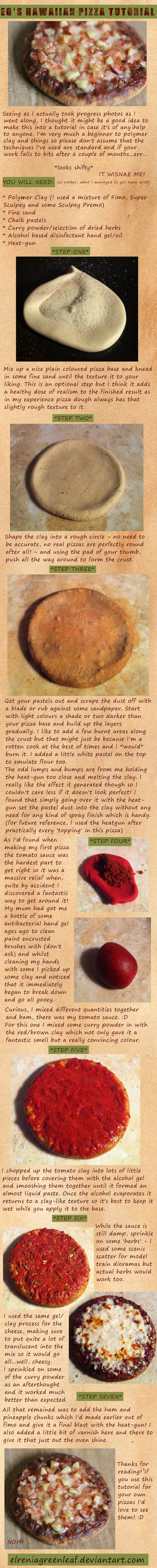 1/12th scale Hawaiian Pizza *TUTORIAL* by ElreniaGreenleaf
