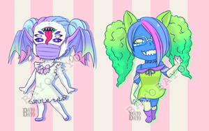 OPEN (ADOPT AUCTION) Pastel Monster Girls