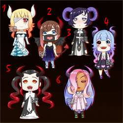 6/6 OPEN Auction Demon Girl Adopts