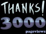 3000 Pageviews - Thanks