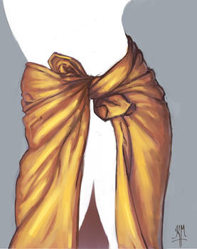 Cloth Folds - Study
