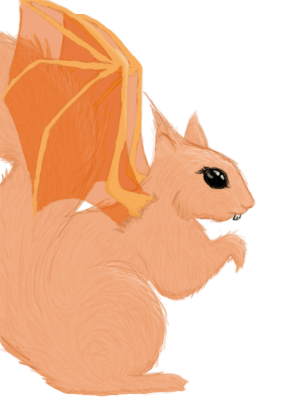 Dragon Squirrel by Drelias