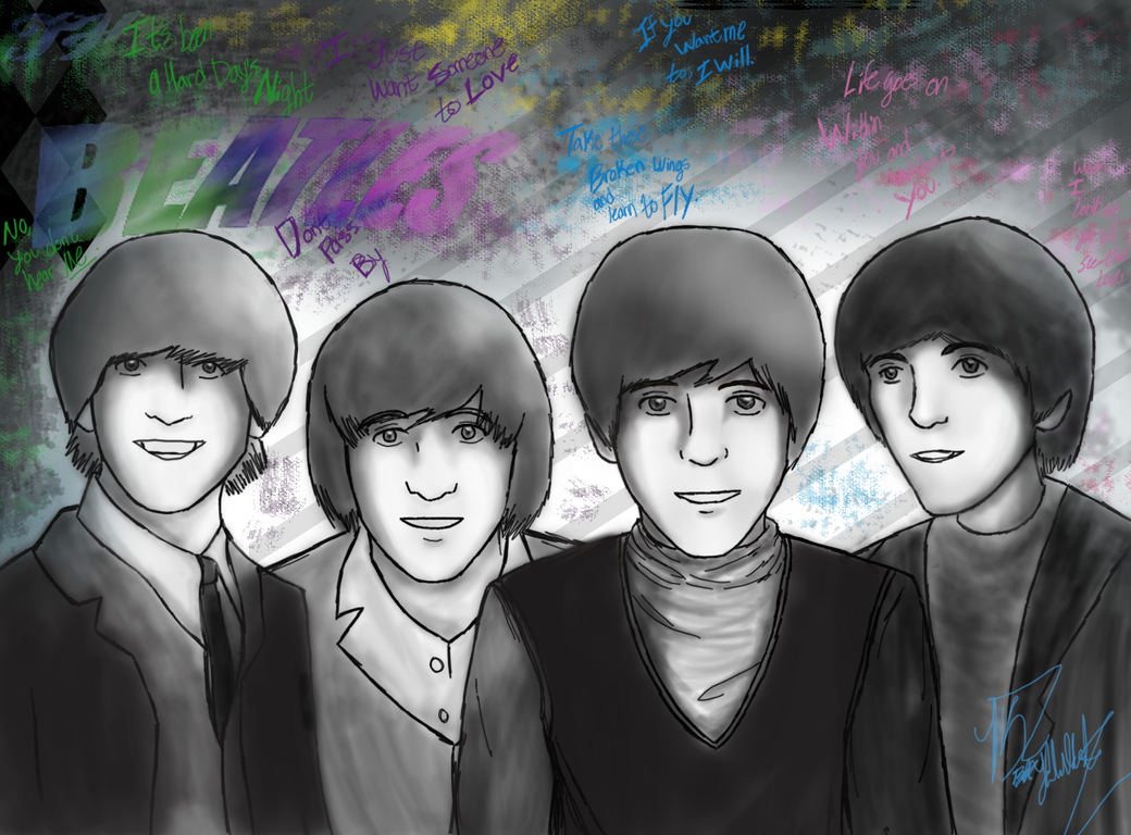 The Beatles by Darkkeh