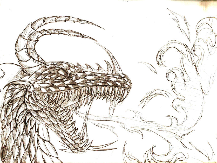 drawings of dragons breathing fireEasy Fire Breathing Dragon Drawings
