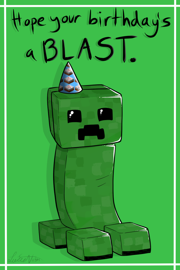 Massif image with regard to minecraft birthday card printable