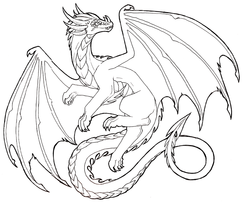 Line Drawing In Photo : Flying dragon lineart free to use by lucieniibi on deviantart