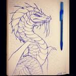 Blue Pen Dragon