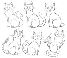 Cats-Free to Use! (+Transparent and MSPaint vers.) by Lucieniibi