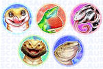 Scalesaurs Lizard Pins by Lucieniibi