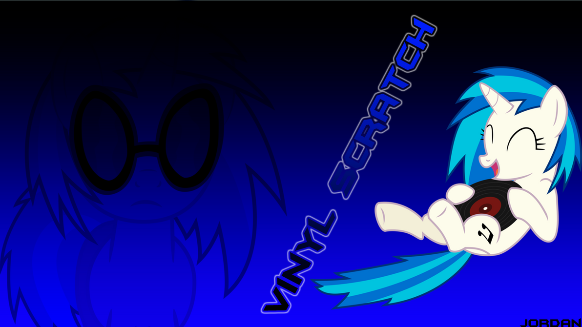 wall paper vinyl scratch 1366x768 by lefrench974 on deviantart