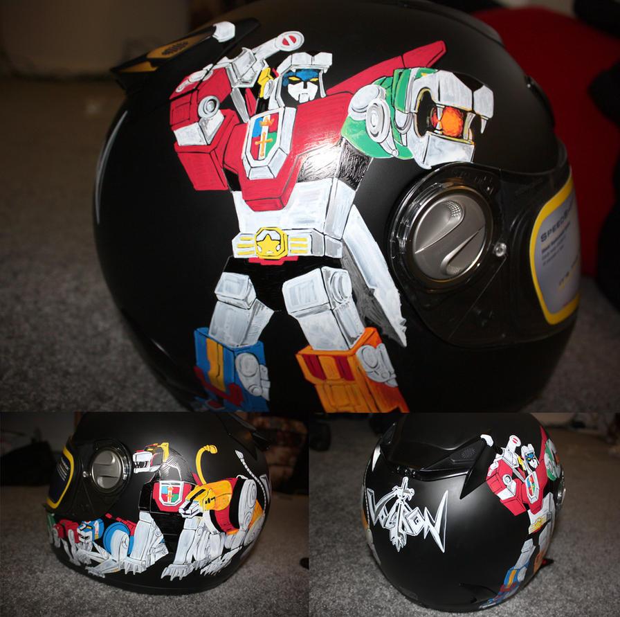 Voltron Motorcycle Helmet by jaisampVoltron Helmet