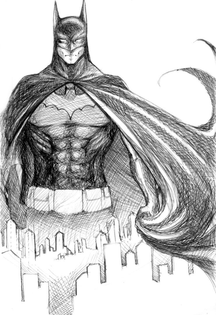 Batman Sketch by jaisamp on DeviantArt Batman Drawing In Pencil Easy