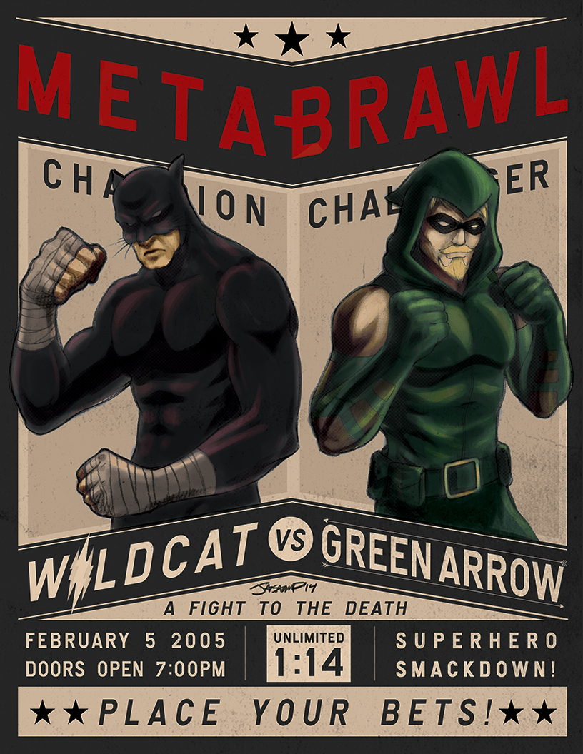 Wildcat vs. Green Arrow by jaisamp