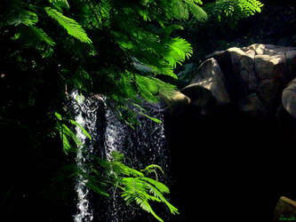Small waterfall by HecateAn