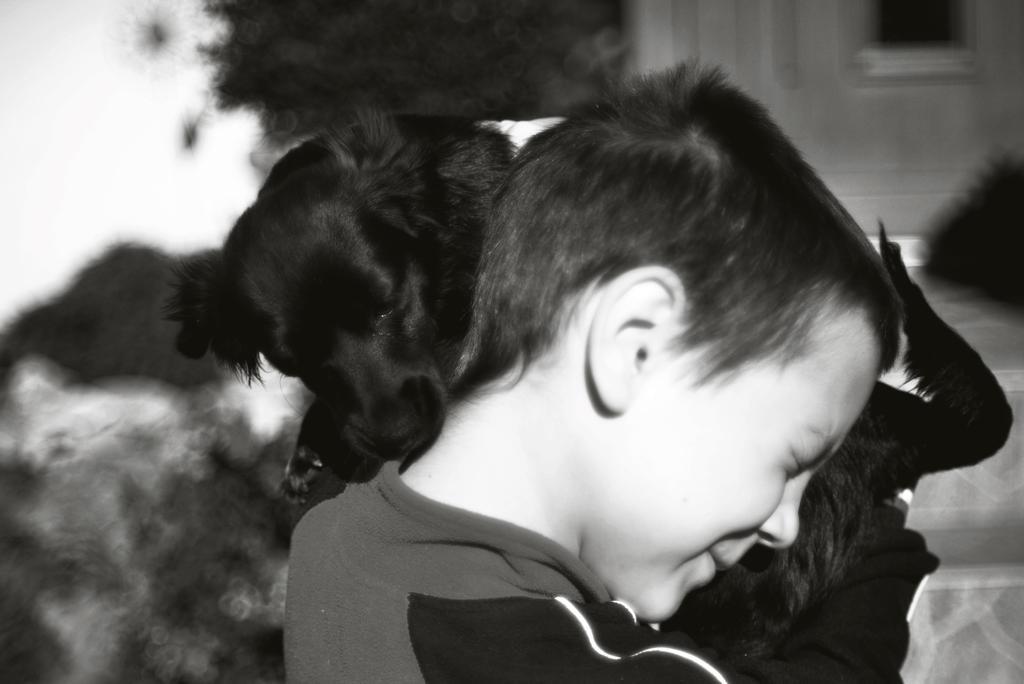 boy and dog by secret-mirror
