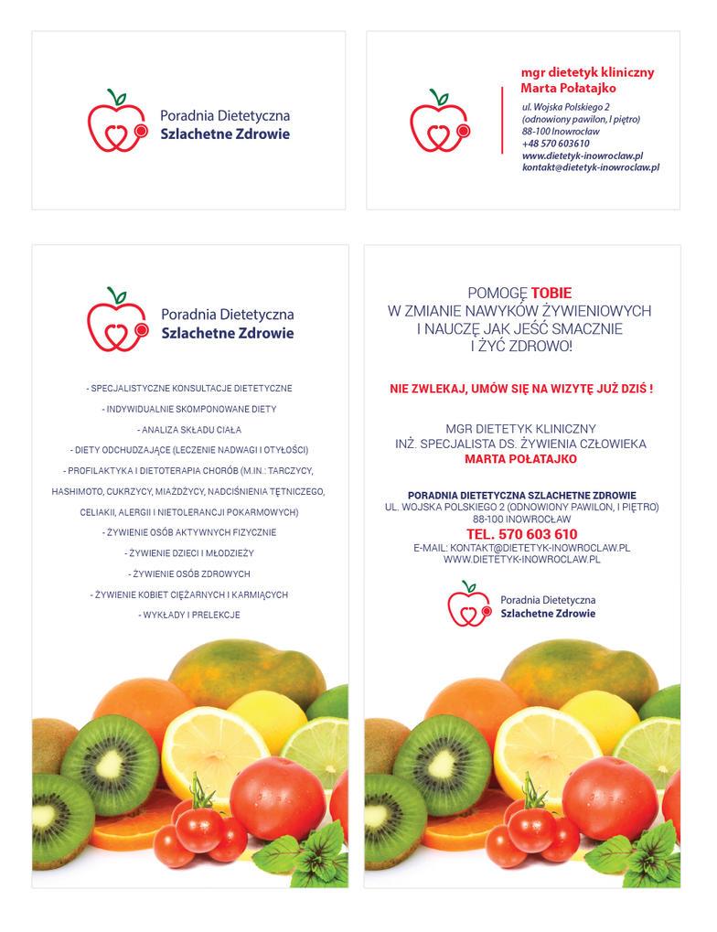 Poradnia Dietetyczna (logo, business card, flyer) by czakkk