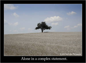 Alone in a complex statement.
