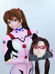 Asuka play the Mari's kigurumi cosplay.