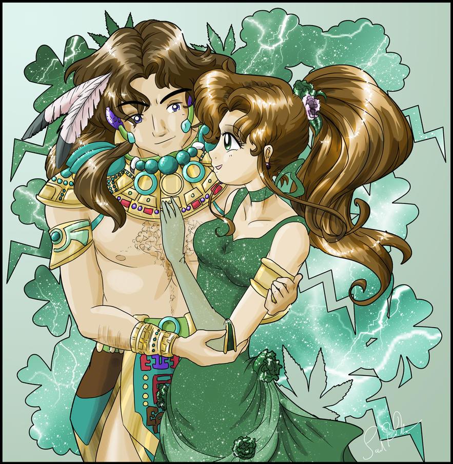 Sailor Jupiter And Nephrite Princess Jupiter and N...