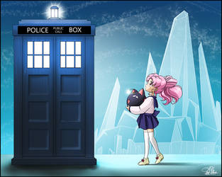 Chibiusa and the TARDIS by SMeadows