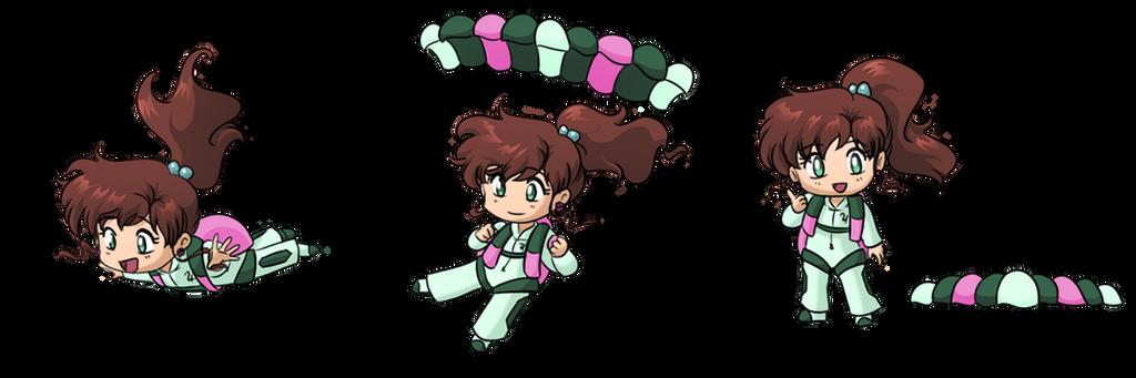 Skydiving Makoto by SMeadows