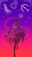 Sailor Mars Lockscreen by SMeadows