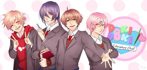 Doki Doki Literature Club Boys by diaboliiique