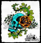 .rose.skull.