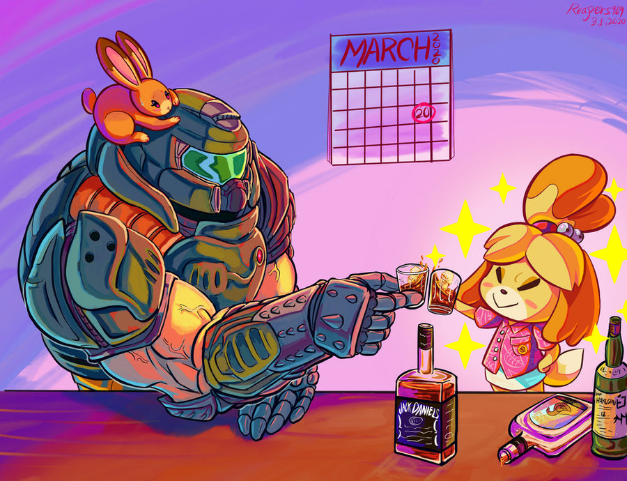 Doomguy And Isabelle By Reapers969 On Deviantart