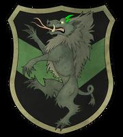 Heraldic Adelinde Rampant by khyterra