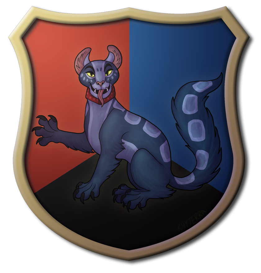 C: Heraldic Rizzle Sejant by khyterra