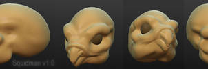 Sculptris Squidman by khyterra