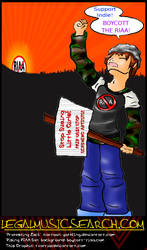 PROTESTING ZACK against RIAA by paradigm-shifting