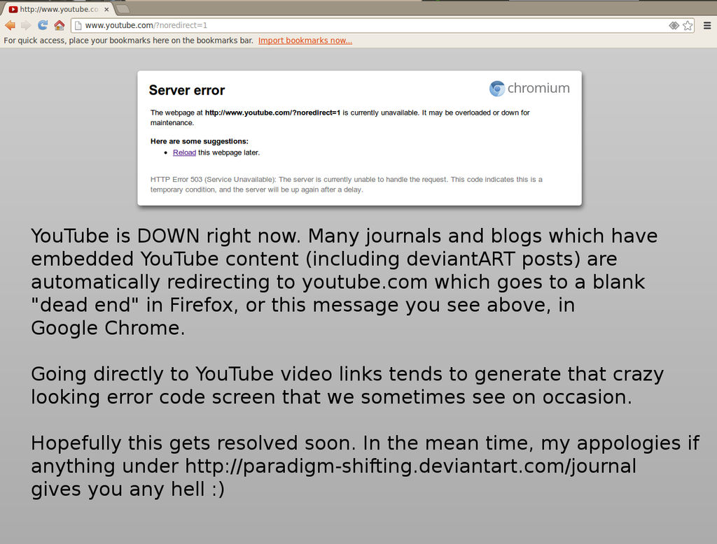 YouTube Outage 09-19-2013 by paradigm-shifting on DeviantArt