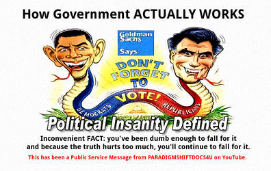 Political Insanity Defined by paradigm-shifting