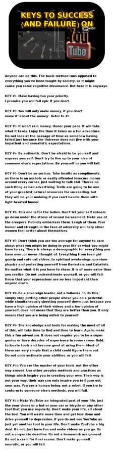 Keys To Success AND FAILURE on YouTube