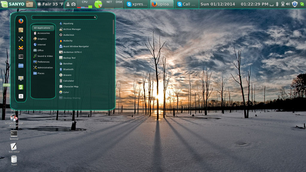 Linux Mint 16 on 42 Inch TV