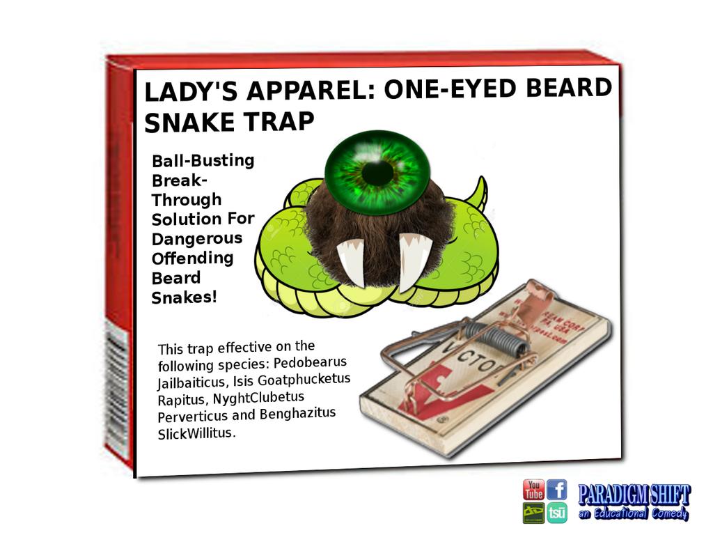One eyed beard snake trap by paradigm shifting on deviantart