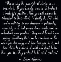 Sam Harris on Clarity by paradigm-shifting