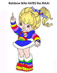 Rainbow Brite Hates The RIAA by paradigm-shifting