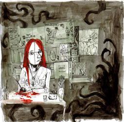 Self portrait in studio by zyphryus