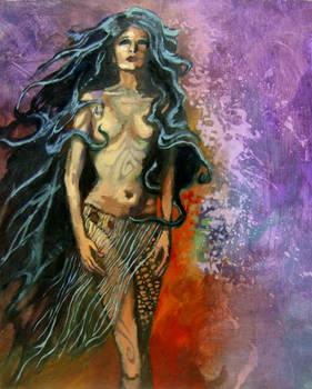 fantasy powr shadow fire woman