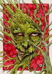 Zombie-ish Greenman on Red