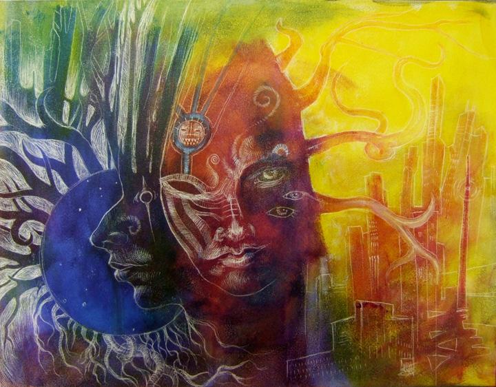 Dream Awake Earth City Spirit Sleep by zyphryus