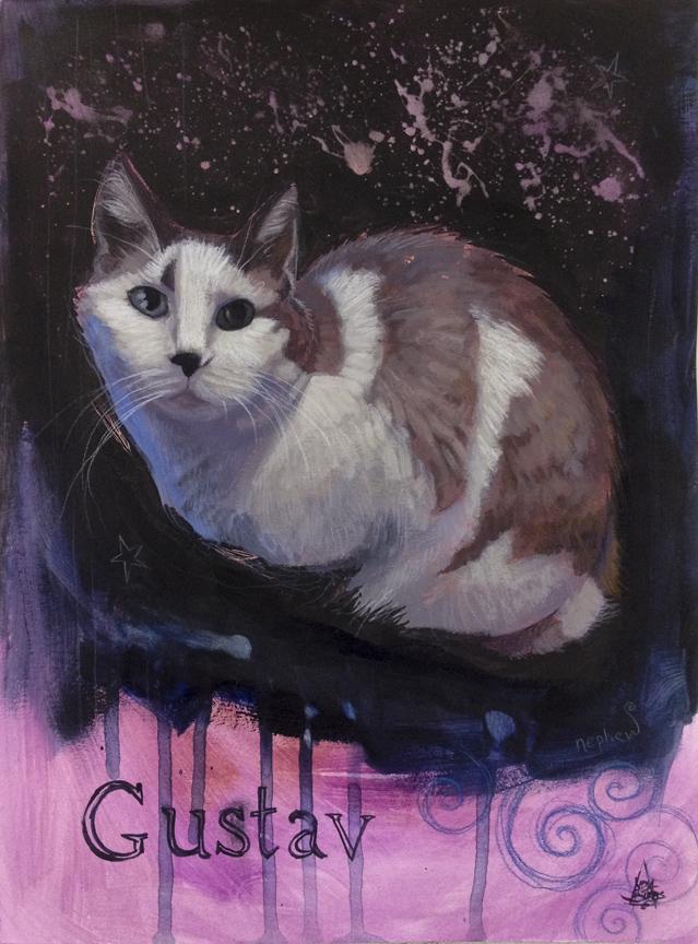 Gustav the cat by zyphryus