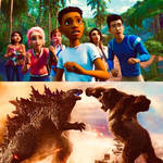 The Campers Watch Godzilla And Kong fight
