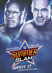 SummerSlam 2014 Poster by AmericanDreamGTR