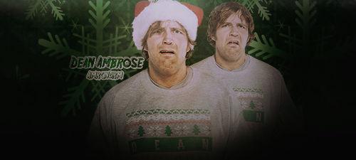 Dean Ambrose Christmas Signature V2