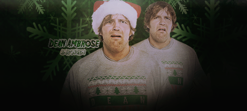 Dean Ambrose Christmas Signature V2 by AmericanDreamGTR